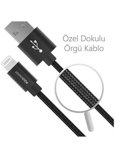 Polo Smart Psm07 1 Metre Siyah Lightning Hızlı Şarj Kablosu Siyah